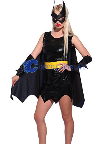 Batman Costume Batgirl Simple Black Dress