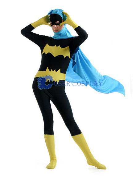 Batman Costume Batgirl Zentai With Cape