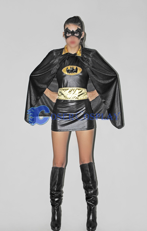 Batman Costume Dress Batgirl With Cape