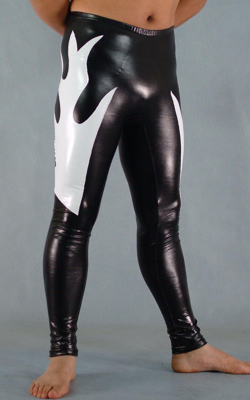 707de37905403 Black And White Shiny Spandex Leggings | cosercosplay.com