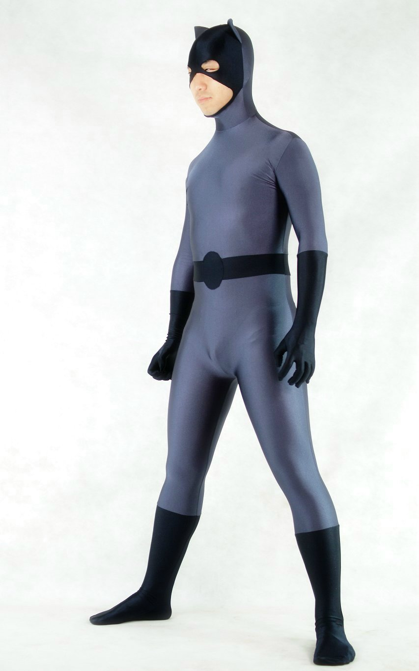 Black Batman Halloween Costume Zentai