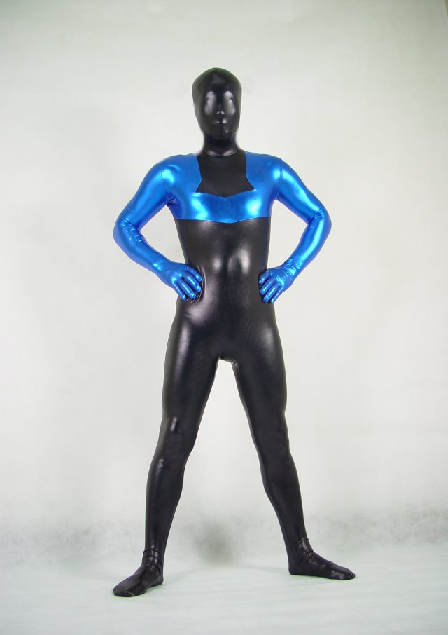 Black Blue Halloween Costume Ideas Zentai