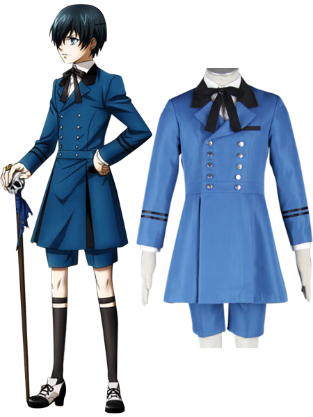 Black Butler Kuroshitsuji Ciel Phantomhive Blue Boy Lolita