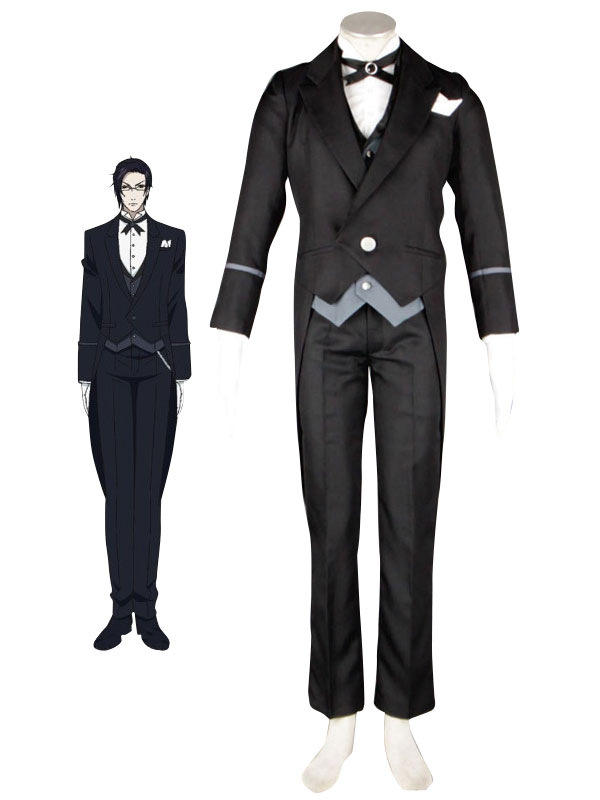 Black Butler Kuroshitsuji Claude Faustus Butler Uniform Suit Cosplay Costume