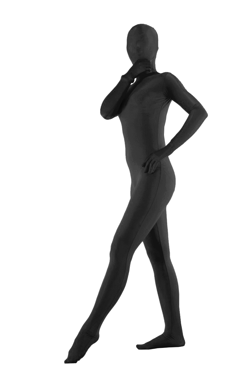 Black Lycra Fabric Zentai Suits Sexy