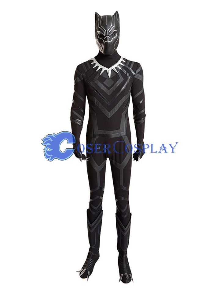 Black Panther Cosplay Costume Captain America Civil War