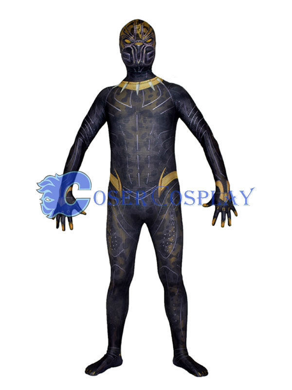 Black Panther Cosplay Costume Zentai Halloween
