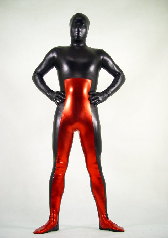 Black Red Halloween Costume Ideas Zentai