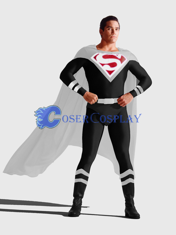 Black Superman Cosplay Costume Fashion