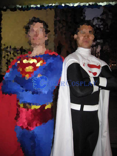 Black Superman Costume Halloween Superhero Capes