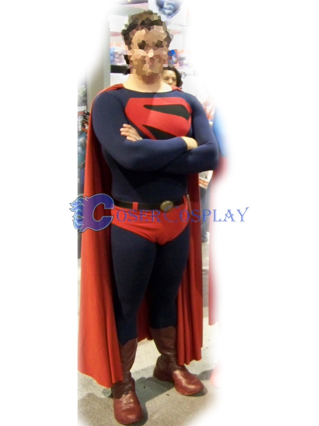Black Superman Halloween Costume Superhero Capes