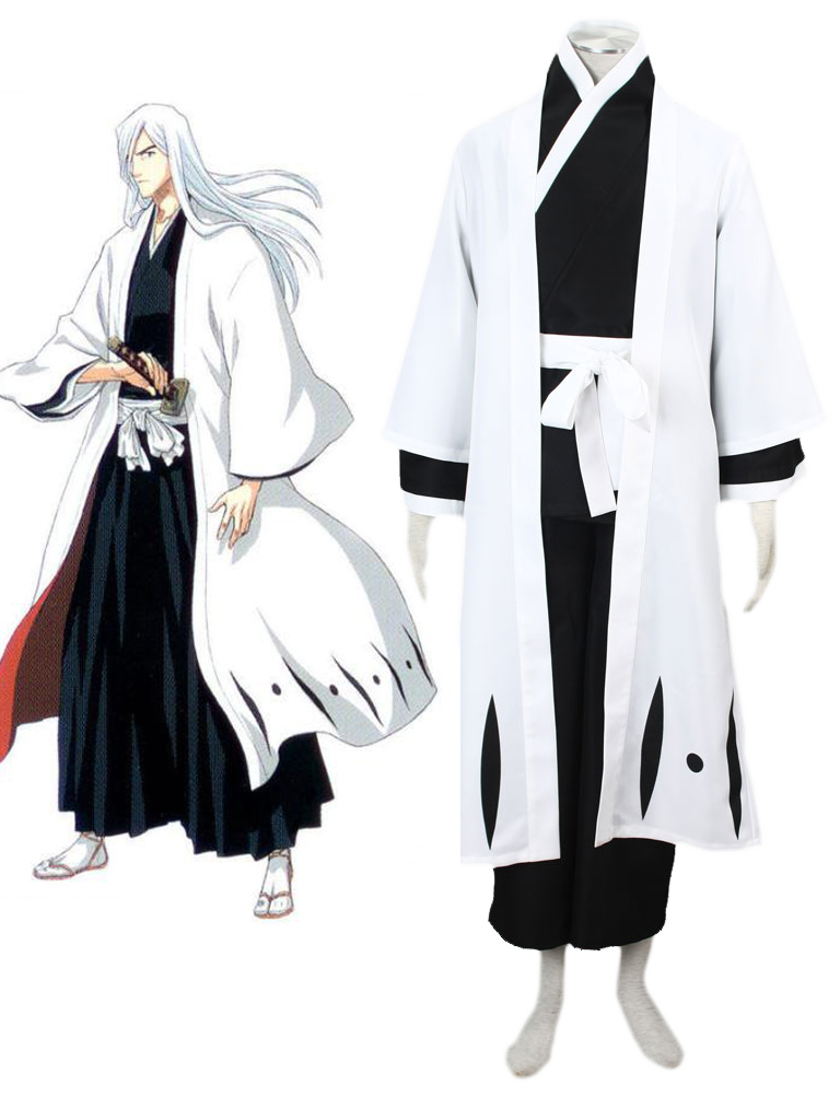 Bleach Gotei Thirteen Jūshiro Ukitake Captain of the 13th Division Soul Reaper Kimono Cosplay Costumes