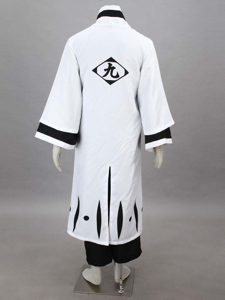 Bleach Gotei Thirteen Kaname Tosen Captain of the 9th Division Soul Reaper Kimono Cosplay Costumes