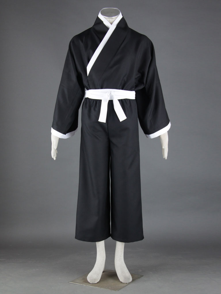 Bleach Gotei Thirteen Renji Abarai Lieutenant of the 6th Division Soul Reaper Kimono Cosplay Costumes