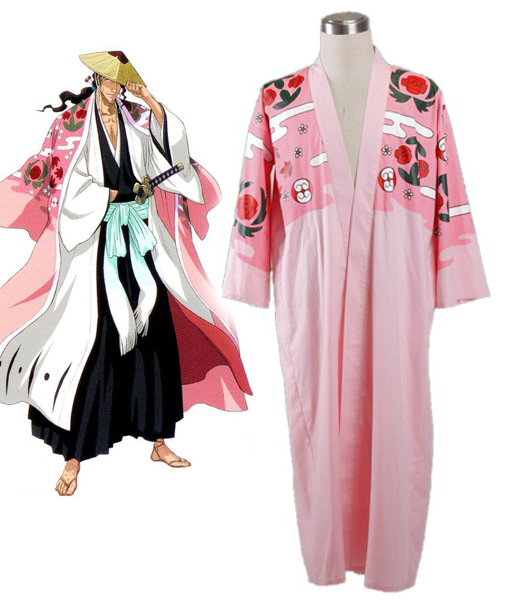 Bleach Gotei Thirteen Shunsui Kyoraku Captain of the 8th Division cloak Cosplay Costumes