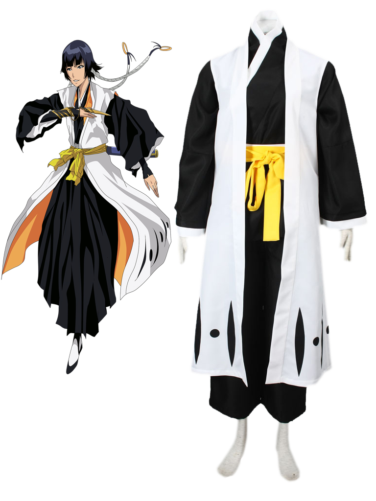 Bleach Gotei Thirteen Soi Fon Captain of the 2nd Division Soul Reaper Kimono Cosplay Costumes