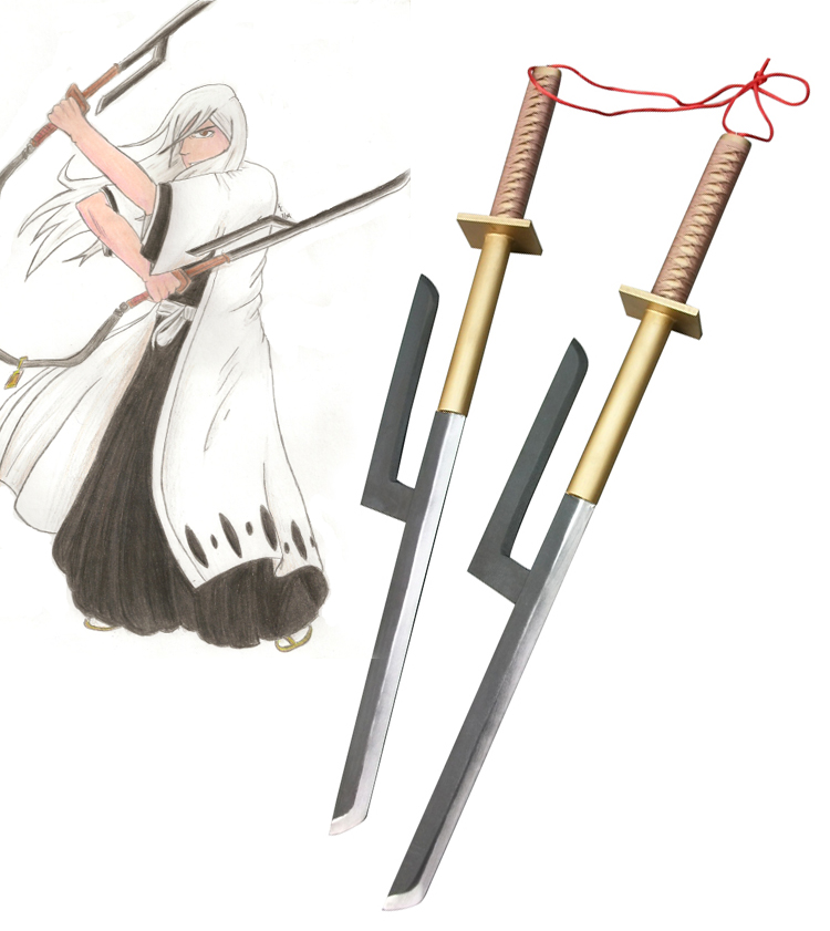 Bleach Jūshirō Ukitake Zanpakutou Sougyo no kotowari Cosplay Wooden Weapons
