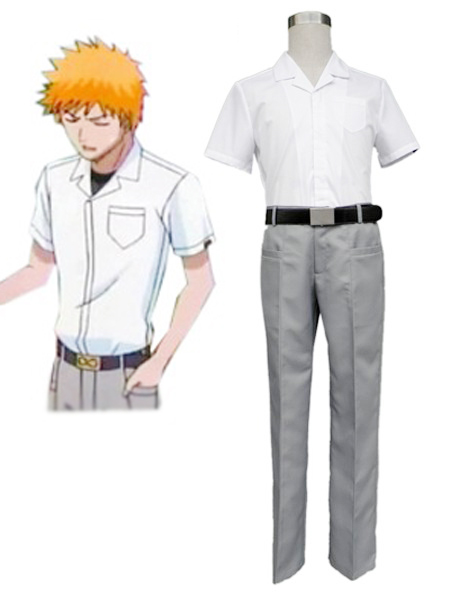 Bleach Karakura High School Boys Summer School Uniform Cosplay Costumes