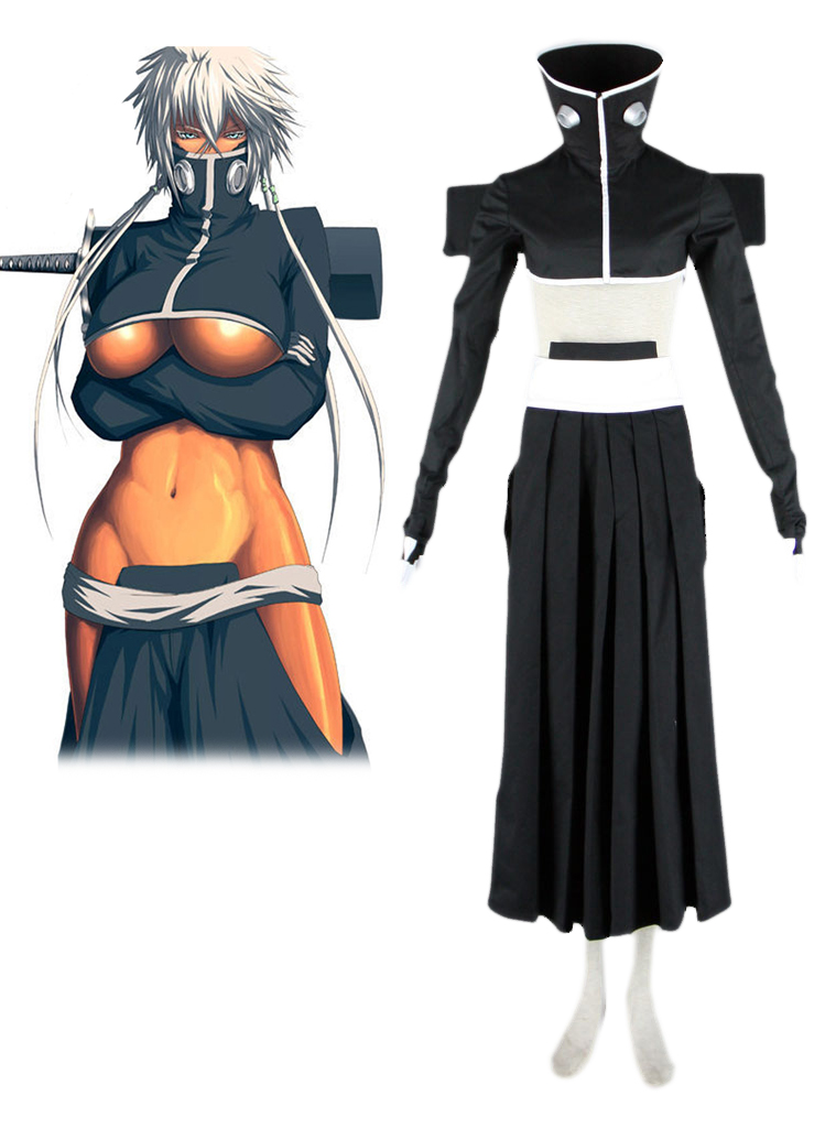 Bleach Tear Halibel Black Kimono Cosplay Costume
