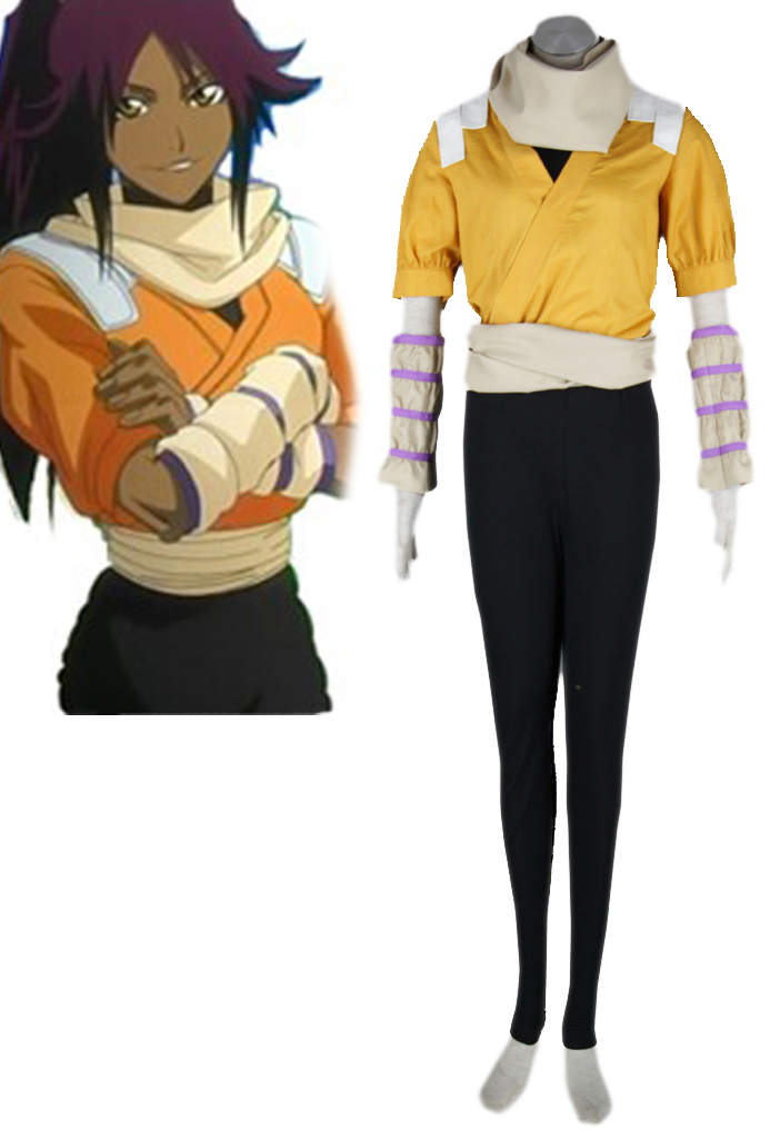 Bleach Yoruichi Shihoin Cosplay Costumes