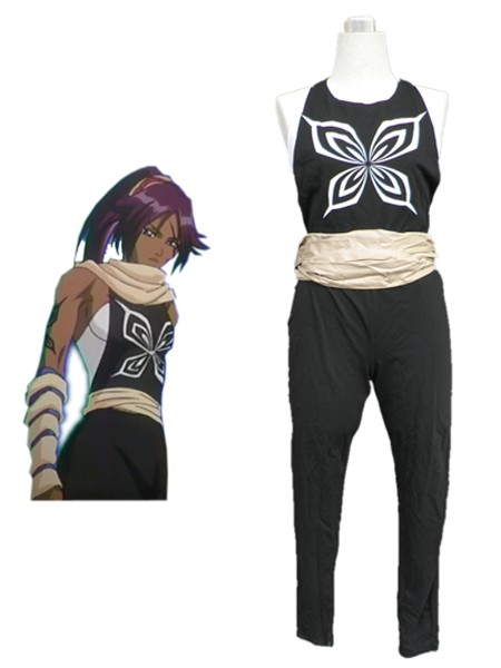Bleach Yoruichi Shihoin hornet's crest  Fighting Uniform Cosplay Costumes