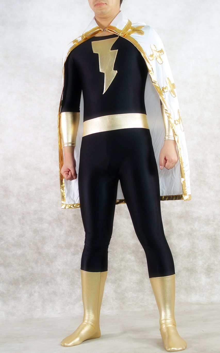 Blitzmann Superhero Halloween Costumes Catsuit