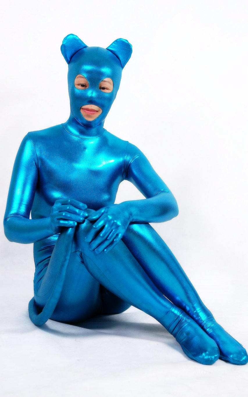 Blue Bear Full Body Zentai Suit