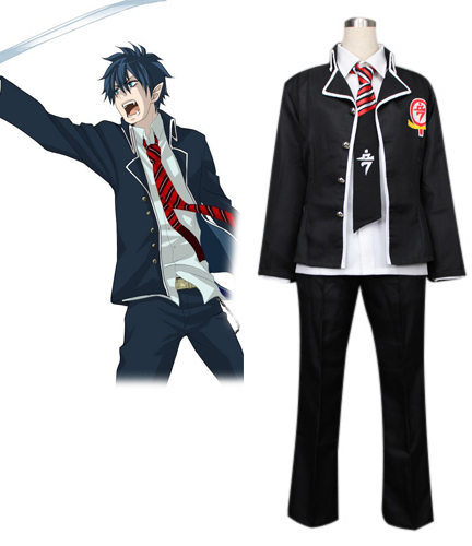 Blue Exorcist Okumura Rin True Cross Academy Boys' Chool Uniform Cosplay Costume