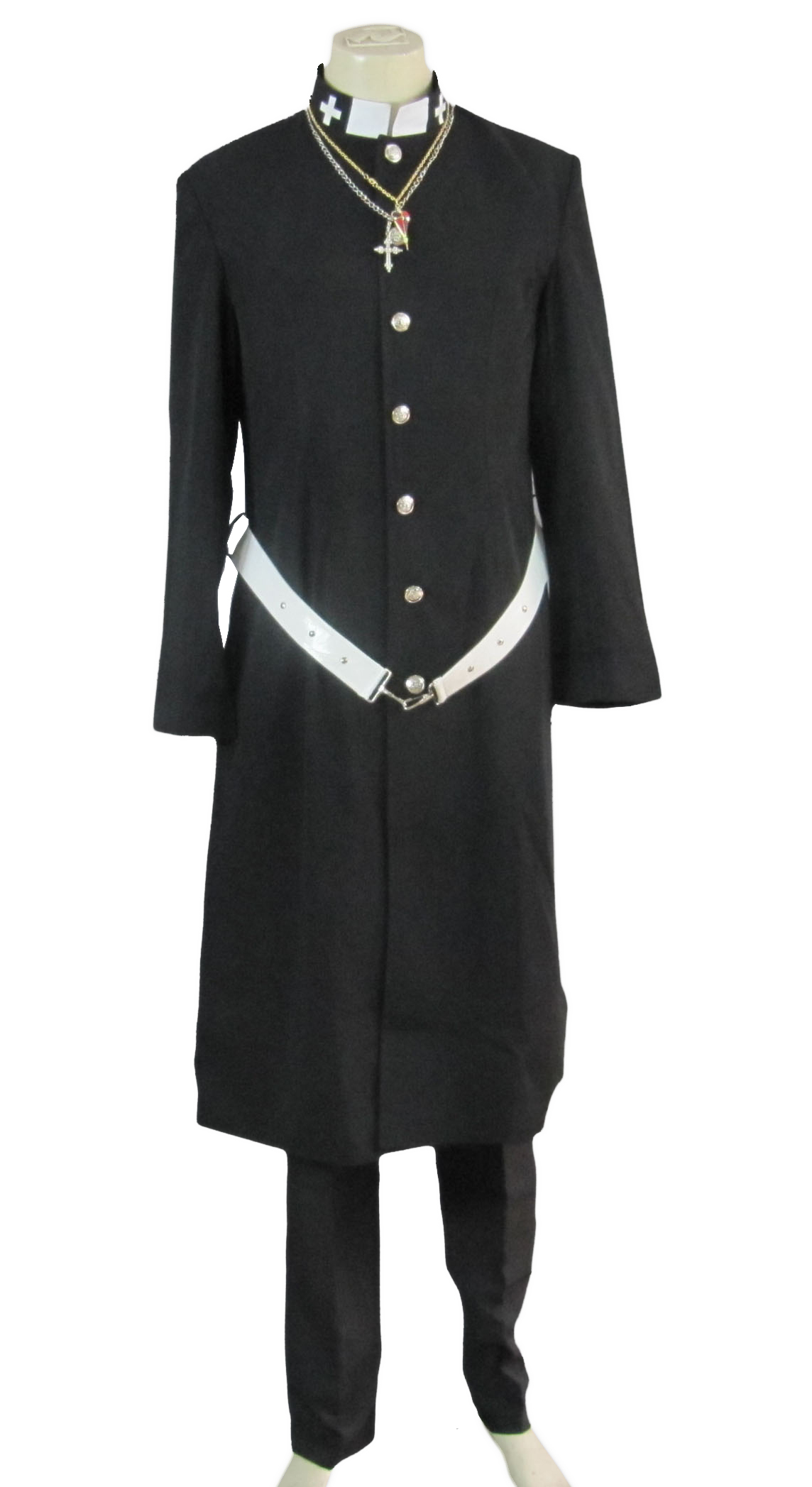 Blue Exorcist Shiro Fujimoto Priest Uniform Cosplay Costume