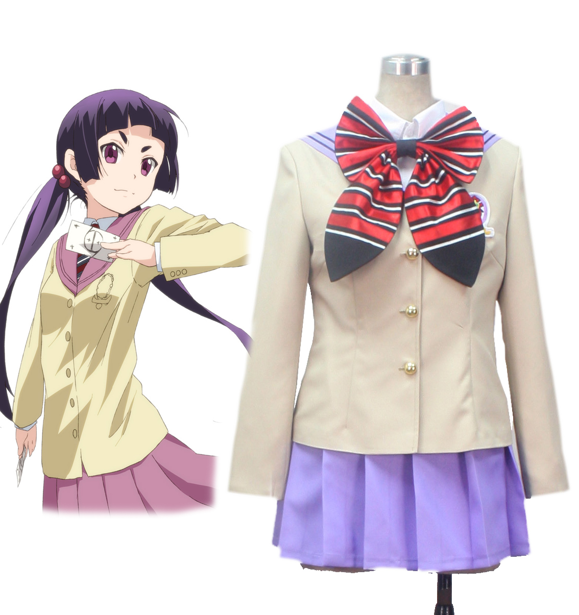 Blue Exorcist kamiki izumo True Cross Academy Girls' Chool Uniform Cosplay Costume