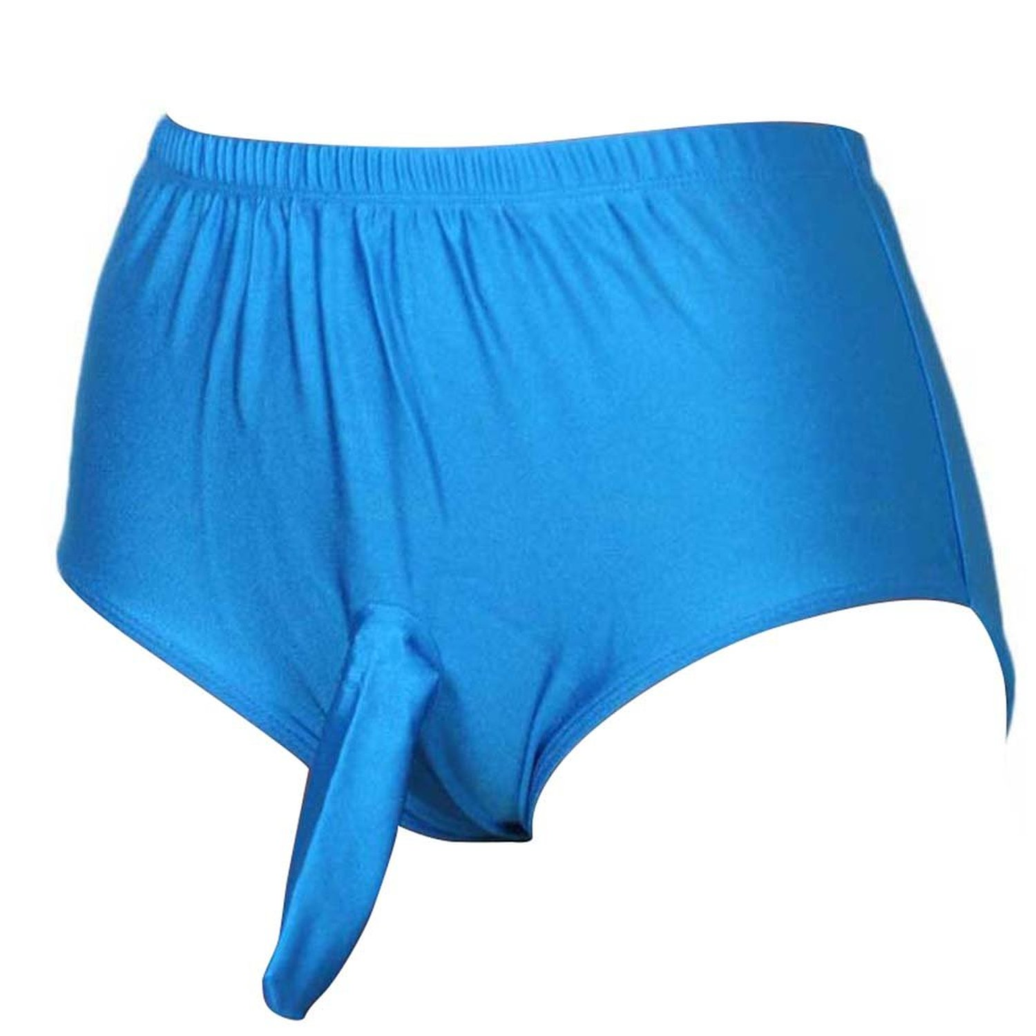 Blue Male Sexy Panties With Penis