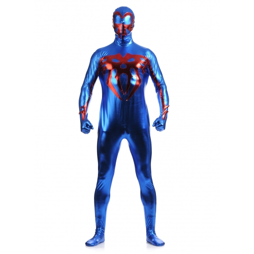 Blue Shiny Spiderman Halloween Costume