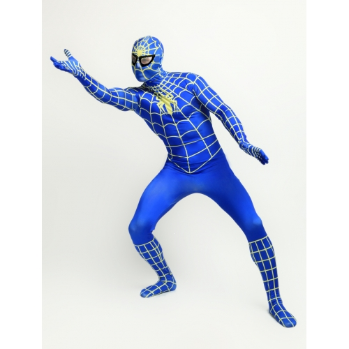 Blue Spandex Spiderman Halloween Costume