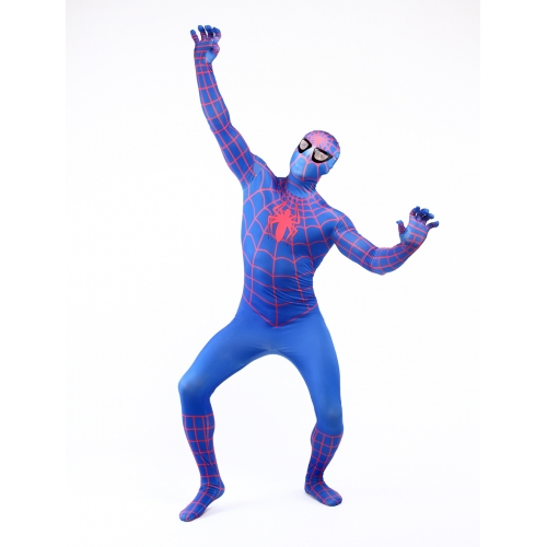 Blue Zentai Spiderman Halloween Costume