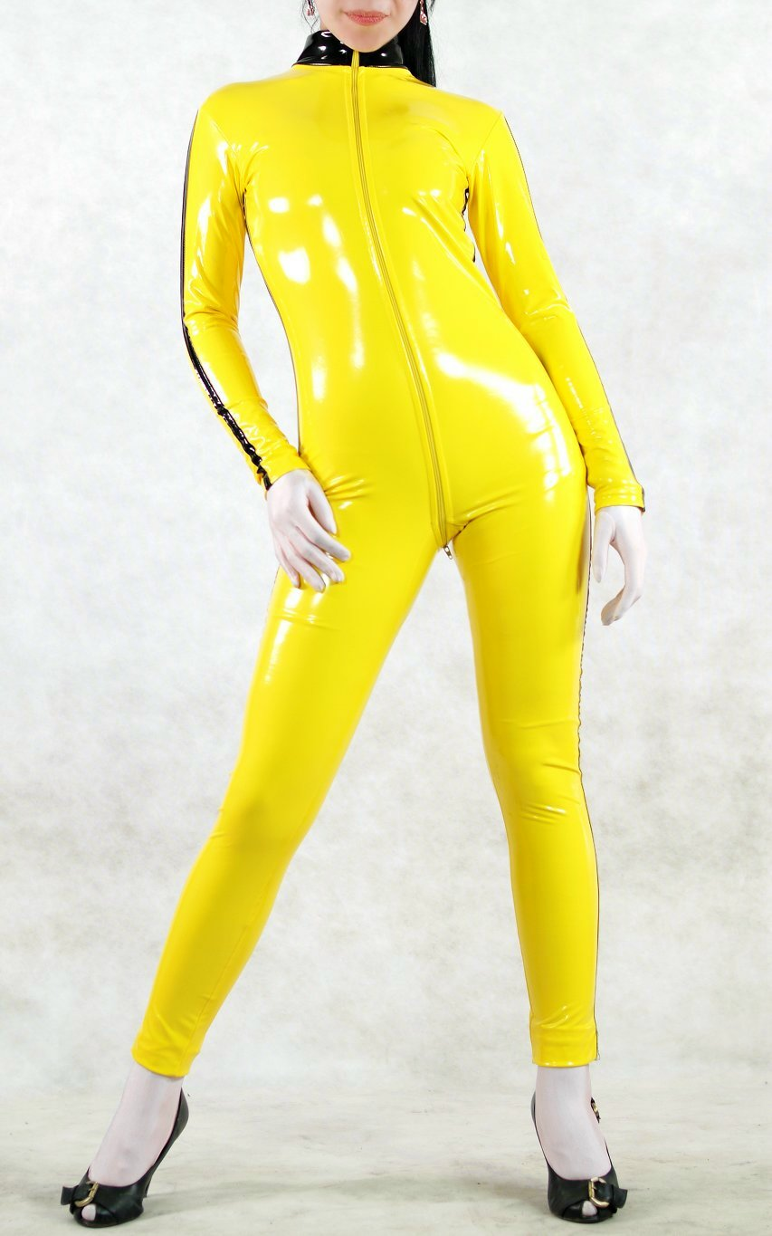 Bruce Lee Yellow PVC Catsuit