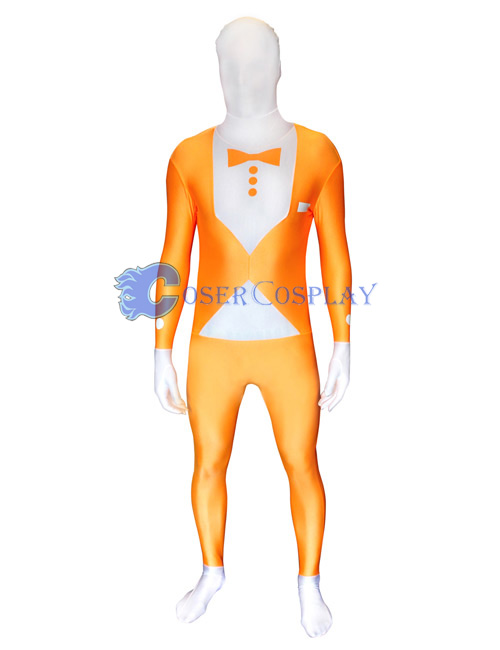 Orange Tuxedo Morphsuit Zentai Suit
