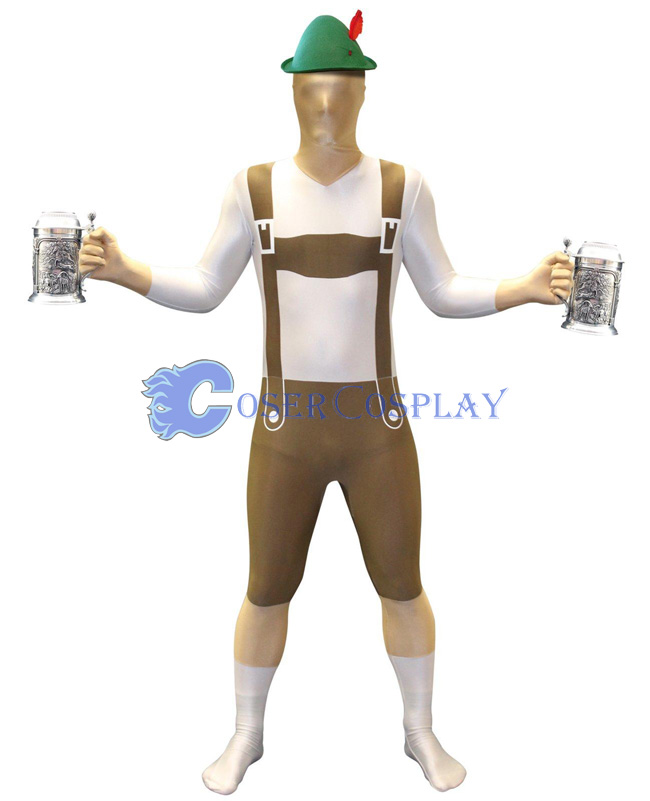 Overalls Full Body Zentai Morphsuit