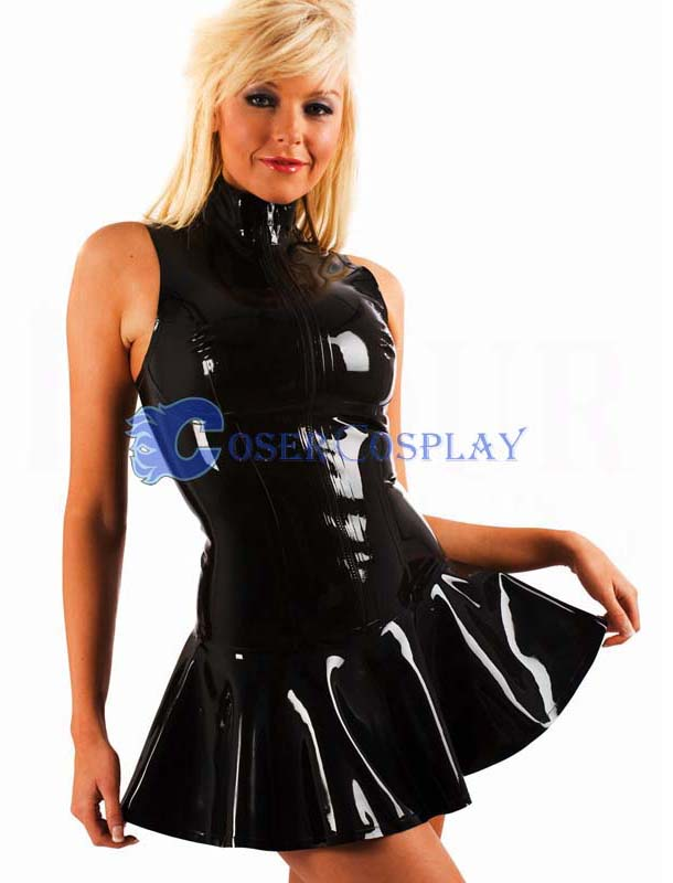 Black PVC Dress Sexy Lingerie