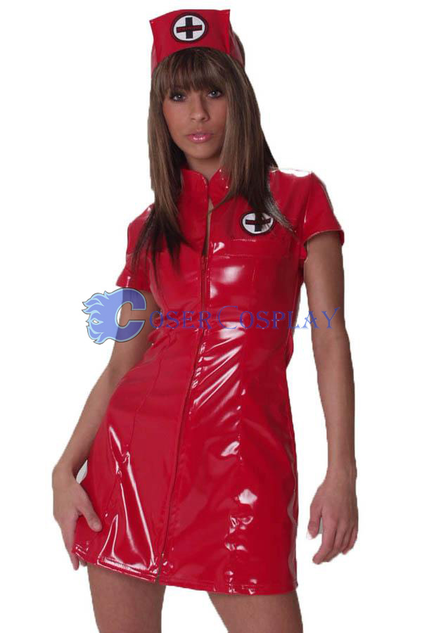Red Nurse Costume Sexy Lingerie