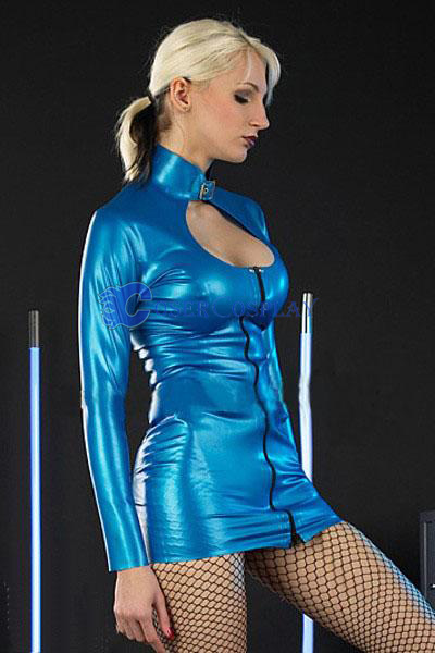 Blue Sexy Lingerie Wetlook Suit