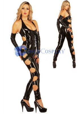 496349091b9 Shiny Spandex Wetlook Catsuit Sexy Lingerie