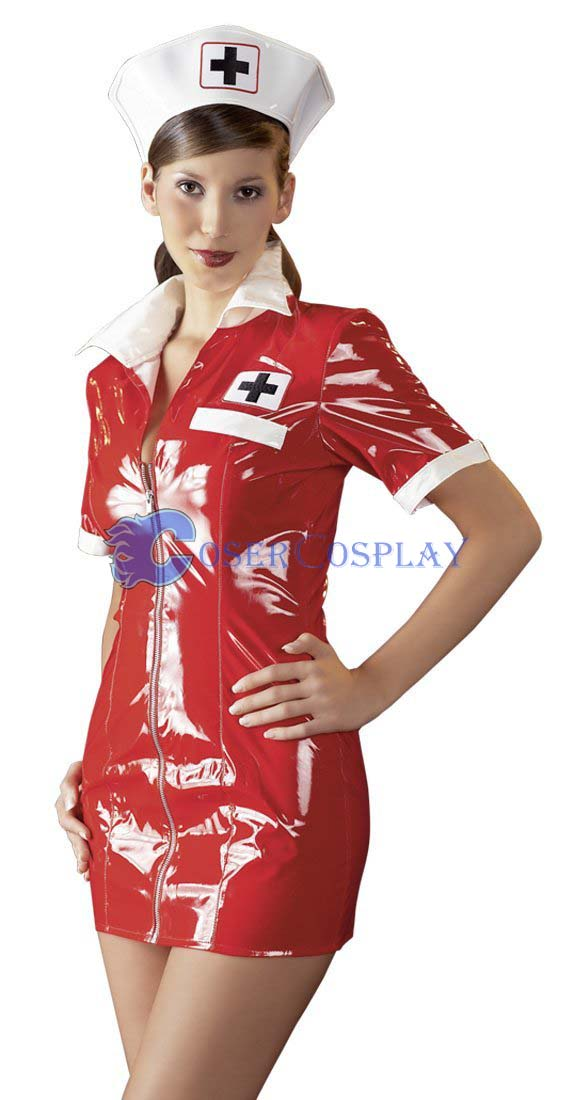Red Nurse Cosplay Costume Sexy Lingerie