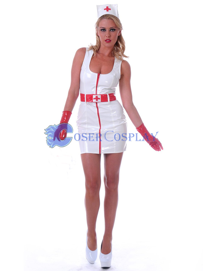 White Nurse Costume Dress Sexy Lingerie