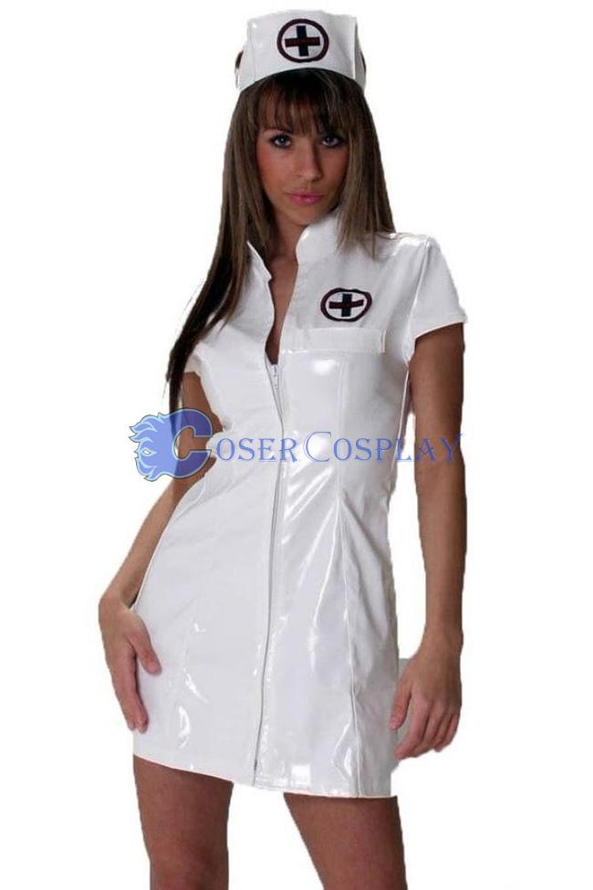 446a42de0f11 White Pvc Nurse Costume Sexy Lingerie