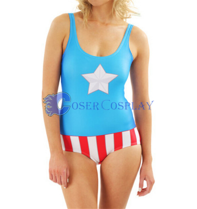 Captain America Cosplay Costume Bodysuit