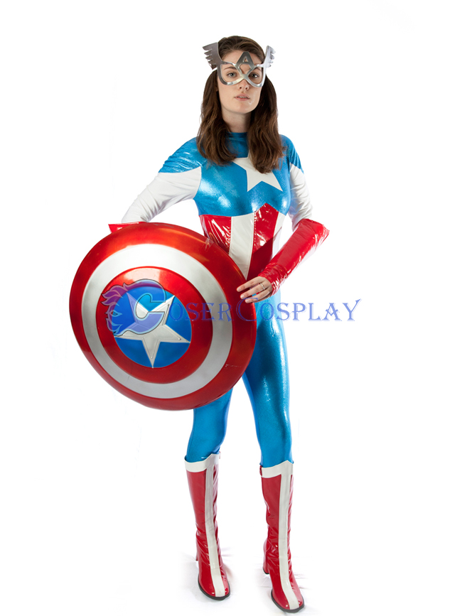 Captain America Cosplay Costume Catsuit Wetlook