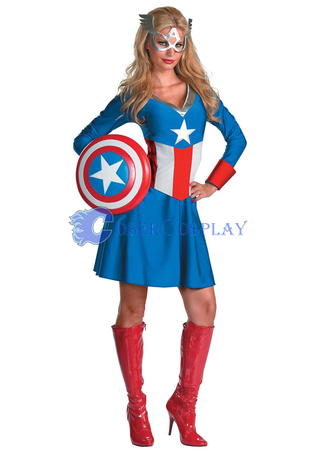 Captain America Cosplay Costume Dress Party