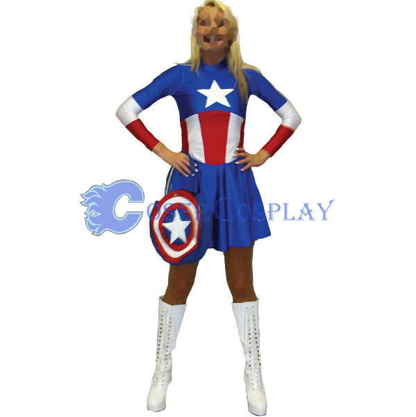 Captain America Cosplay Costume Dresses
