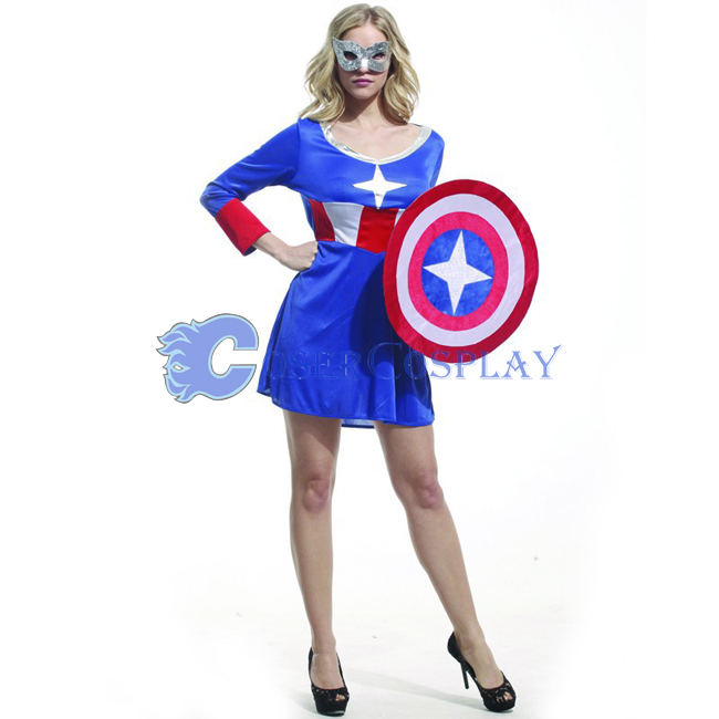 Captain America Cosplay Costume Halloween Dress