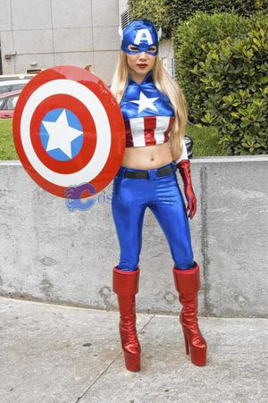 Captain America Cosplay Costume Halloween